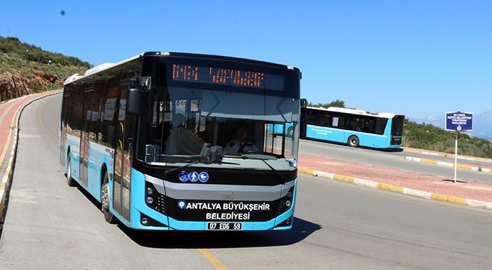 Antalya Merkezinde Toplu Ulaşım Bedava Oldu