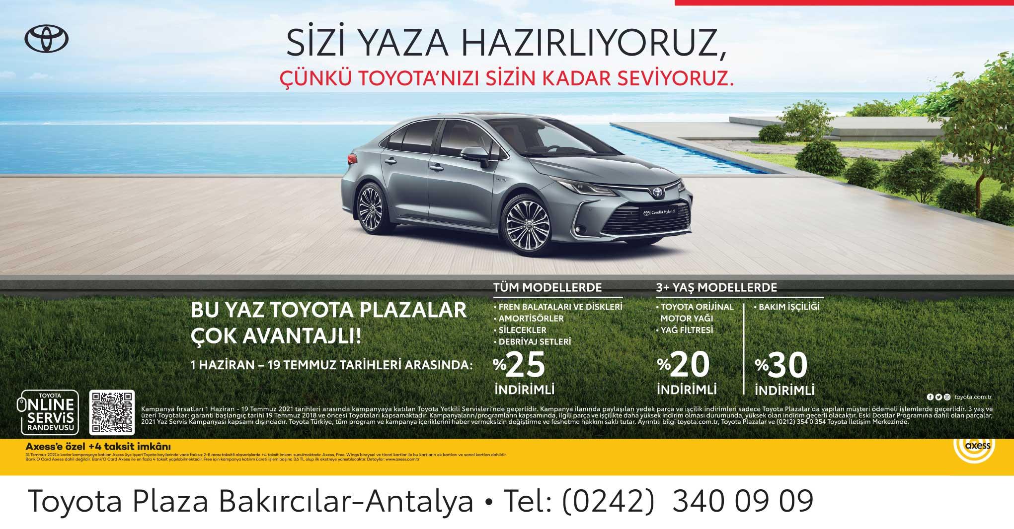 Toyota Bakım Servis Fırsatı
